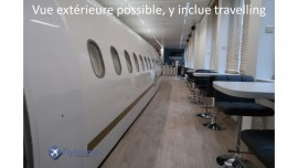 Flylounge A319 vue from corridor