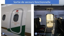 A319 Flylounge Emeergency exit