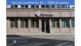 Flylounge as seen from the rue du commerce at Bruxelles